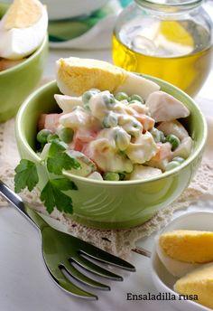 Receta de Ensaladilla rusa - Karlos Arguiñano - Cocina Abierta Clean Recipes, Potato Salad, Potatoes, Cooking, Ethnic Recipes, Eat, Food, Photoshop, Healthy Salads