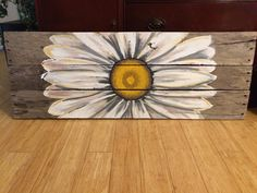 Reclaimed Wood Art, sunflower sign, custom reclaimed wood decor.  Personalized pallet art by HippieHoundUSA on Etsy