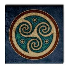 Celtic tri swirl linked to rim