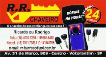 R.R. CHAVEIRO O Chaveiro da sua confiança na sua casa!
