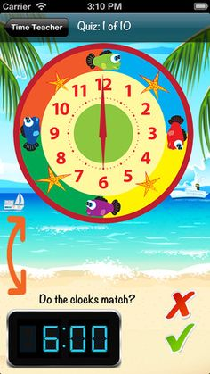 Time Teacher is a great way to teach children how to read time. Within this app is a number of activities that will help children develop an understanding of telling the time for your children. Free. 34.8Mb