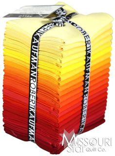Kona Cotton - Burning Up Colorstory Fat Quarter Bundle - Robert Kaufman Fabrics - Robert Kaufman