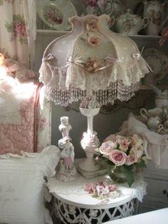 Porcelain Rose Lamp