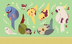 crowske: GET A LOAD OF THESE BIRDS (im gonna be turning this into little coin purses omg!!!) NEED