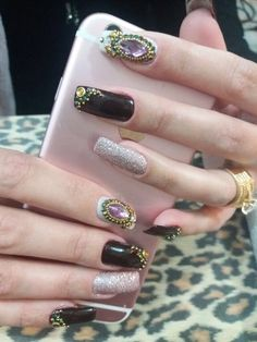 Milena, Nails, Beauty, Stiletto Nails, Nail Jewels, Nail Arts, Jewelry Ideas, Stones, Ongles
