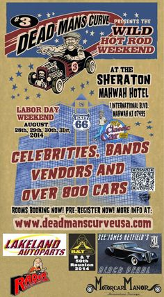50th Reunion at Dead Mans Curve 3rd Wild Hot Rod Party Weekend | 8/28/2014