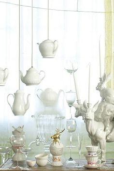 tea pendants, white pendants