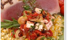 Yellowfin Tuna With Kalamata Olive Salsa