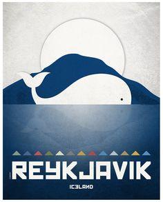 Reikiavik. Islandia. Póster. Arte. Impresión por SomeLikeItShop