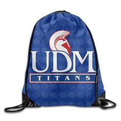 QKNKOP University Of Detroit Mercy Titans 1 Logo Drawstring Backpack Bag -- Click image to review more details.