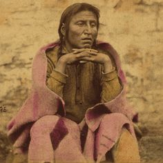 This circa 1865 Charles Zimmerman photo of Wa-kan-o-zhan-zhan (Sacred Light or Medicine Bottle) was taken during his imprisonment at Fort Snelling from 1864-1865.