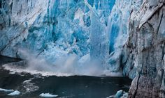 A chunk of ice breaks off from the Perito Moreno glacier in Argentina - Guardian Article about climate change VERY Good