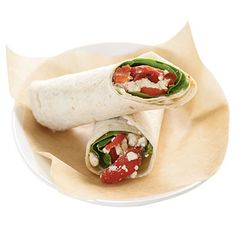 Veggie wraps with grilled cheese #Recipe #Skinny #Vegetarian