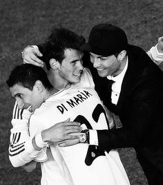 Bale, Di María and Cristiano. Copa del Rey final 2013-2014