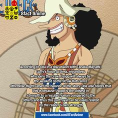 One Piece- This is actually the reason why Usopp is one of my favorites because he's so human and relatable