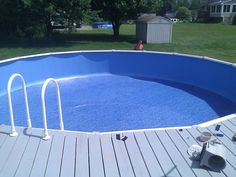 Meadows from namco a sharkline pool model 15x30 installs for Pool design mistakes