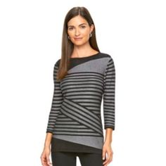 d44f24752ee Women s Dana Buchman Striped Crewneck Sweater. Crewneck SweaterGrey SweaterGrey  StripesVera WangSpecial Occasion DressesPlus Size ...