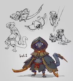 or just Nat, is my new DnD character I'm playing as, a Kobold Assassin from the east.