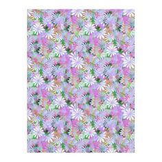 #pretty - #Mixed Color Digital Daisies Fleece Blanket
