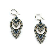 Beaded Necklace Patterns, Beaded Tassel Earrings, Jewelry Patterns, Beaded Jewelry, Beaded Chandelier, Chandelier Earrings, Bead Patterns, Weaving Patterns, Bead Jewellery