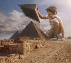 Finally we know.... :) - Finally we know how the big pyramids are built... yes it was my son ;)