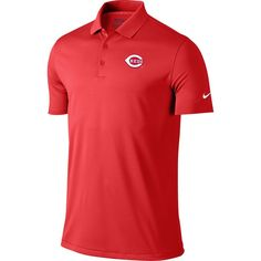 Cincinnati Reds Nike Golf Victory Solid Performance Polo - Red