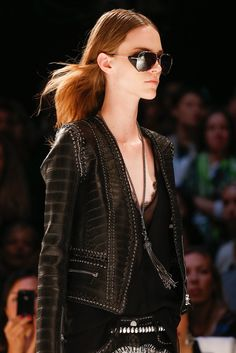 Roberto Cavalli - nothing like a little leather to go with your lace