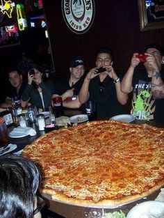 Now that's a Texas size pizza! Big Lou's Pizza, San Antonio, Texas - Yep I've been there! The pizza really is THAT big! Texas Vacations, Texas Roadtrip, Texas Travel, San Antonio Vacation, Only In Texas, Texas Forever, Loving Texas, Texas Pride, Texas Homes