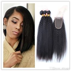 Coarse Yaki Human Hair Weft With Free Middle 3 Part Swiss Lace Closure 100% Remy Malaysian Kinky Straight Human Hair Weave Silk Hair Closure Closure For Weave From Africagirl, $0.98| Dhgate.Com