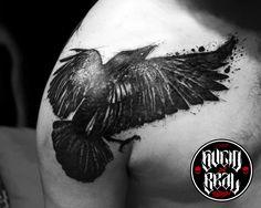 Cuervo para Javier Ribiski (segunda parte de trabajo de manga completa) en el estudio Sucio X Real Tatuajes (Gualeguaychú - Entre Ríos) #Tattoo #Tatuaje #Argentina #TattooArgentina #Gualeguaychú #LaPlata #TattooGualeguaychú #TattooLaPlata #Ink #SucioXReal #SantoUno #Art #TattooArt #Cuervo #Crow #TrashPolka