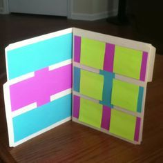 Anecdotal notes: post it note and folder