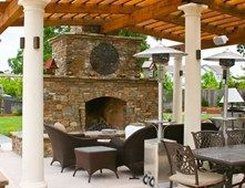 Fireplace Patio Cover Outdoor Fireplace LandPlan's Landscaping Pleasanton, CA
