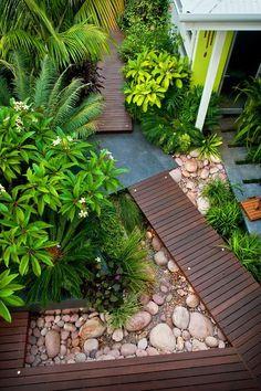 Walk and river rock for path to front door landscape by Cultivart Landscape Design