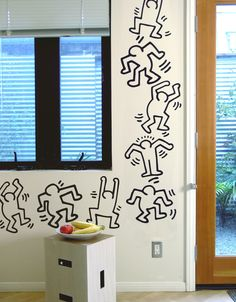 Keith Haring Stickable Wallpaper Tiles