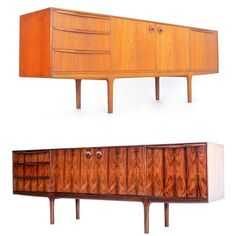 The two most popular woods used during the mid century period; Rosewood and Teak. But which is the best? Mid Century Credenza, Into The Woods, Most Popular, Midcentury Modern, Teak, The Best, Period, Two By Two, Heaven