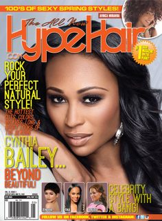 Hype hair x june 2017 hype hair magazine covers pinterest rhoa star cynthia bailey on the cover of hype hair magazine pmusecretfo Images