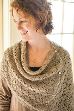 Smocked lace can be worn as a poncho, a large cowl, or simply a scarf, or seamed and made into a shrug $7