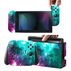 Protective Skins Stickers Cover for Nintendo Switch Console and Gray(Red, Blue)Joy con – Vinyl Decals Protector Set for Switch – Stars For Sale Nintendo Switch Accessories, Gaming Accessories, Style Kawaii, Nintendo Switch Case, Video Game Rooms, Wireless Home Security Systems, Life Hacks, Switch Covers, Diy Electronics