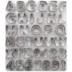 Fondant Cut-Outs  Alphabet and numbers cut-out shapes. I need these!!!
