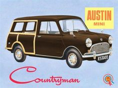 Having A Ride With Vintage Bicycle Posters - Popular Vintage Classic Mini, Classic Cars, Austin Healey Sprite, Car Brochure, Mini Countryman, Classic Mercedes, Classic Motors, Car Posters, Car Advertising