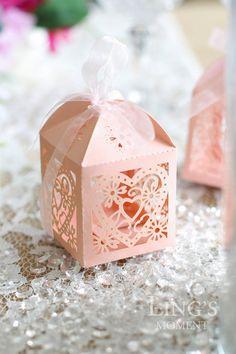 50pcs amore cuore Laser tagliare scatole di di BlissByLingsMoment