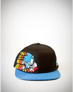43af0e777df Embroidered Sonic Snapback Hat - Spencer s. Party Points3 HatCustom TeesSnapback  CapBaseball ...