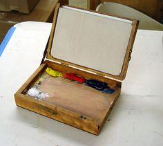 x pochade box w& tripod attach nut - WetCanvas Plein Air Easel, Pochade Box, Gear Art, Art Easel, Outdoor Paint, Painted Boxes, 3d Max, Diy Box, Box Art