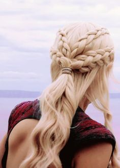 Game of Thrones Hairstyle Long Braid Synthetic Hair Cosplay Wig New Arrival Wigs G Pretty Hairstyles, Braided Hairstyles, Wedding Hairstyles, Easy Hairstyles For Thick Hair, Khaleesi Hair, Medieval Hairstyles, Long Braids, Long Wigs, Synthetic Hair