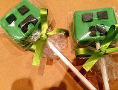 Creeper Pops from a Minecraft Birthday Party via Kara's Party Ideas | KarasPartyIdeas.com (8)
