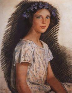 Zinaida Serebriakova - Portrait de Vera Makarova