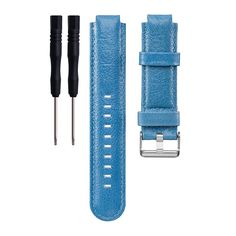 ECSEM Replacement Genuine Leather Bands and Straps for Garmin Approach S5/S6, Blue. New Replacement Genuine Leather Band Wrist Strap with Tool for Garmin Approach S5/S6 Wireless Band Wristband Bracelet. Perfect fit for your Garmin Approach S5/S6 Band activity tracker and comfortable wearing experience. Wristband: These premium genuine leather wristbands are designed with comfort in mind. Stylish wristband to match your daily style with this brand new color choices - Garmin Approach S5/S6...