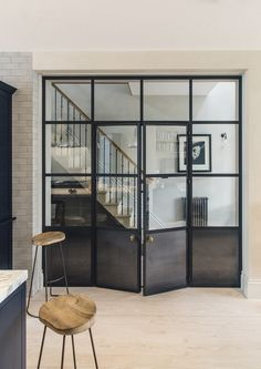 Plain English bespoke metal and glass doors.made to order for Plain English clients Plain English bespoke metal and glass doors.made to order for Plain English clients Bespoke Kitchens, Luxury Kitchens, Crittal Doors, Casa Loft, Crittall, Bedroom Doors, Windows And Doors, New Homes, House Design