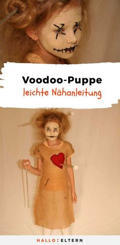 The lively voodoo doll for Halloween! So einfach ist sie selbstgemacht With this lively voodoo doll it is better not to put on # costume - Halloween Tags, Halloween Porch, Dollar Store Halloween, Halloween 2018, Halloween Cosplay, Halloween Night, Holidays Halloween, Halloween Costumes For Kids, Diy Costumes