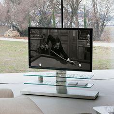 Cattelan Italia Mueble TV Panorama Diseño Paolo Cattelan. Mueble de TV Panorama con ruedas y regulable en altura. Estructura en acero inox y estantes en...
